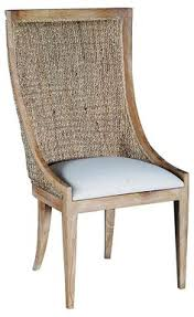 lido balboa woven side chair white naturally modern one kings lane balboa side chair