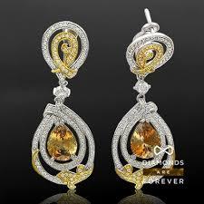Купить <b>Серьги с гиацинтами и</b> бриллиантами из белого золота ...