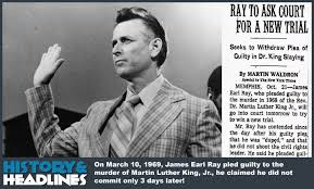 「On June 8, 1968, James Earl Ray is arrested」の画像検索結果