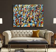 hand painted modern abstract oil painting original artwork office canvas wall art home decor artwork for the office