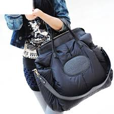 fashion space cotton material large package down jacket bag capacity winter ladies shoulder sac a main bayan sings