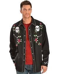 Scully Men's Skull Roses Shirt: Clothing - Amazon.com