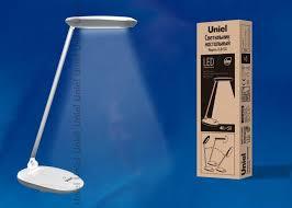 <b>Настольный</b> светильник <b>Uniel</b> TLD-531 Grey-White/LED/400Lm ...