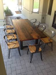 long wood dining table: