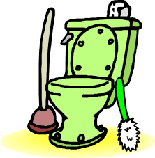 Image result for hit with toilet seat clipart