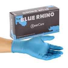<b>Glove</b>, <b>Blue</b> Rhino, Nitrile, PF - Amercare