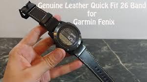 Garmin Fenix <b>Genuine Leather</b> Quick Fit 26 <b>Band For</b> Garmin Fenix ...