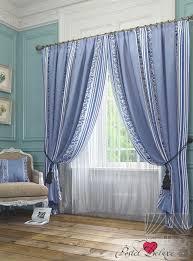 <b>ТомДом</b> Классические <b>шторы</b> Anora Цвет: Голубой (290x260 см)