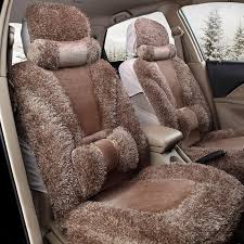 Plush <b>Car</b> Front and <b>Back Seat Cushion</b> Winter Warmer Cover <b>Pad</b> ...