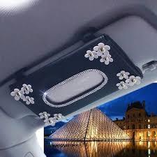 <b>Car Sun Visor</b> Organizer Tissue Box with Daisy | Bling car ...