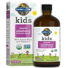 <b>Kids</b> Organic <b>Elderberry Immune</b> Syrup† | Garden of Life