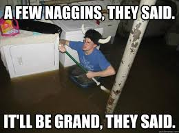 A few naggins, they said. it'll be grand, they said. - Do the ... via Relatably.com
