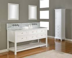 white double sink bathroom  delicate antique double sink bathroom vanities and cabinets with light modern designs tiny storage beside