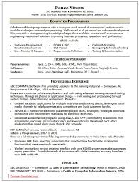 skilled computer programmer resume template sample ms word skilled computer programmer resume template sample ms word