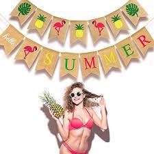 2 Pieces <b>Hello Summer</b> Banner Flamingo Pi- Buy Online in Albania ...
