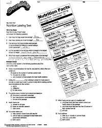 consumerism food labeling pre test nutrition labeling test key jpg