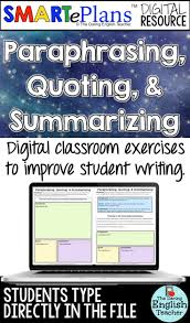 best ideas about middle school writing argument smarteplans digital writing paraphrasing quoting summarizing