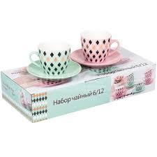 <b>Сервиз чайный из керамики</b>, 12 предметов, 220 мл, Ритм RX ...