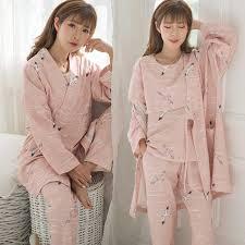 3PCS/Set Cotton Maternity Nursing <b>Pajamas Sets Spring Autumn</b> ...
