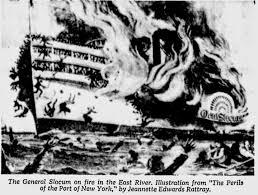 「General Slocum caught fire」の画像検索結果