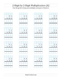 2-Digit by 2-Digit Multiplication with Grid Support (A) Long ...... 2-Digit Multiplication with Grid Support (A) Long. Full Preview