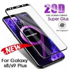 <b>20D</b> Full Curved <b>Tempered Glass For</b> Samsung Galaxy S8 S9 Plus ...