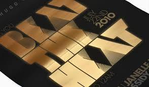<b>Hugo Boss</b> Invitation Poster <b>Printing</b> by DATAGRAPHIC