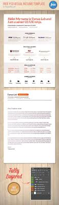 34 psd cv resumes to a good job psd templates psd visual resume template preview