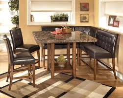 Square Kitchen Table With Bench Dining Room Amazing Corner Nook Dining Set For Dining Room