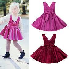<b>US Stock Toddler</b> Kids Baby Girls Sleeveless Silk Velvet Dress ...