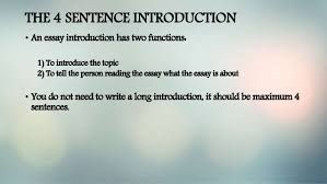 ESSAY WRITING WRITING AN INTRODUCTION ESSAY WRITING PRESENTATION THE SENTENCE INTRODUCTION     FAMU Online
