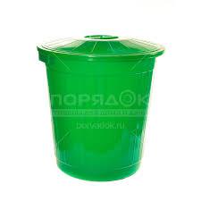 <b>Бак для мусора пластиковый</b> с крышкой, 80 л, цвет в ассортименте