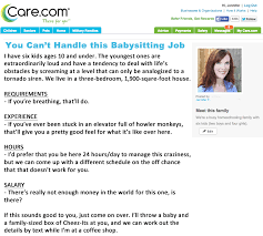 if my babysitting ad were honest click to enlarge