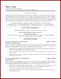 13 sample resume for teaching job sendletters info back to our resume samples page