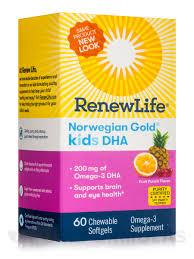 <b>Norwegian Gold</b>® <b>Kids</b> DHA, Fruit Punch Flavor - 60 Chewable ...
