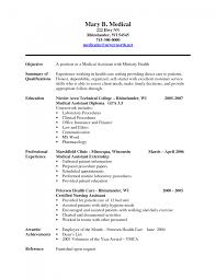nursing assistant resume objective cipanewsletter cover letter samples of medical assistant resume samples of