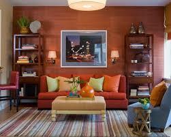 ideas burnt orange: burnt orange sofa photos accca  w h b p contemporary family room