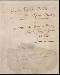 natural selection darwin correspondence project cover sheet of darwin s 1842 pencil sketch in which he first uses the term