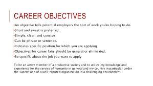 effective resume  cv writing      career objectives an objective