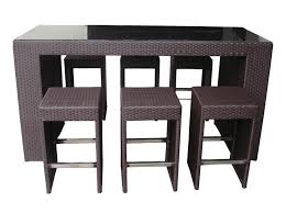 patio table and 6 chairs:  outdoor wicker patio furniture  pc high top table dining bar