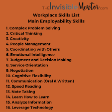 job skills list top skills to thrive in the future implications for the job skills list