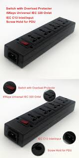 [Visit to Buy] free shipping PDU power strip <b>4</b>-<b>Outlet Universal socket</b> ...
