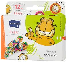 <b>Matopat Happy пластырь</b> защитный, <b>12 шт</b>. купить по цене 65 с ...