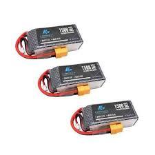<b>3pcs</b> 3S 11.1V <b>1500mAh</b> 30C Lipo Battery - Batteries   Drones Xpress