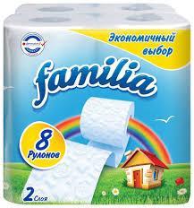 Купить <b>туалетная бумага Familia</b> белая (2 слоя) 8 шт <b>Радуга</b> ...