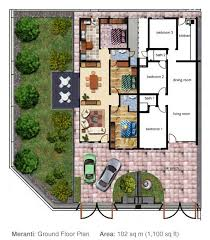 Single Floor House Plans   Free Online Image House Plans    Malaysia Single Terrace House Floor Plans on single floor house plans