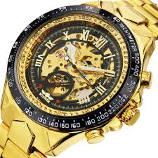 2019 <b>WINNER Men</b> Gold <b>Watches</b> Automatic Mechanical <b>Watch</b> ...