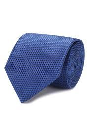 Мужской синий <b>шелковый галстук HUGO</b> — купить за 5300 руб. в ...