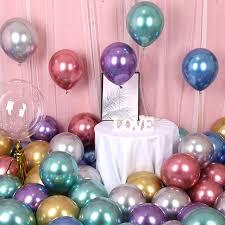 <b>10PCS 12inch</b> silver gold <b>Metallic Latex</b> Balloons Pearly <b>Metal</b> ...