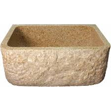 beige quartz undermount double sink bathroom rockwell design stone granite front apron farm kitchen sink    x  x  i